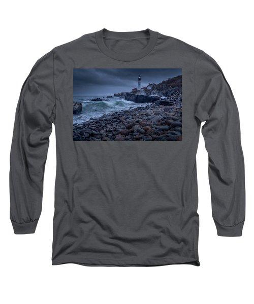 Stormy Lighthouse Long Sleeve T-Shirt
