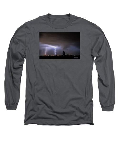 Long Sleeve T-Shirt featuring the photograph Stormy Night by Karen Slagle