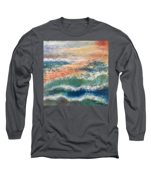 Stormy Seas Long Sleeve T-Shirt by Kim Nelson