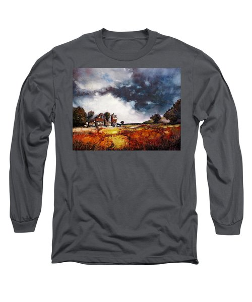 Long Sleeve T-Shirt featuring the painting Stormy Skies by Geni Gorani