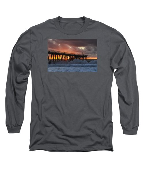 Stormy Sunset Long Sleeve T-Shirt by Ed Clark