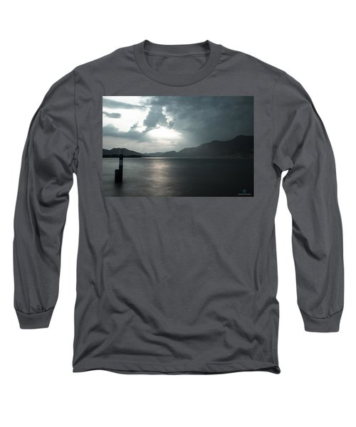 Stormy Sunset On The Lake Long Sleeve T-Shirt by Cesare Bargiggia
