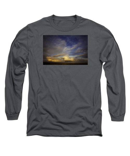 Long Sleeve T-Shirt featuring the photograph Stormy Sunset by Toni Hopper