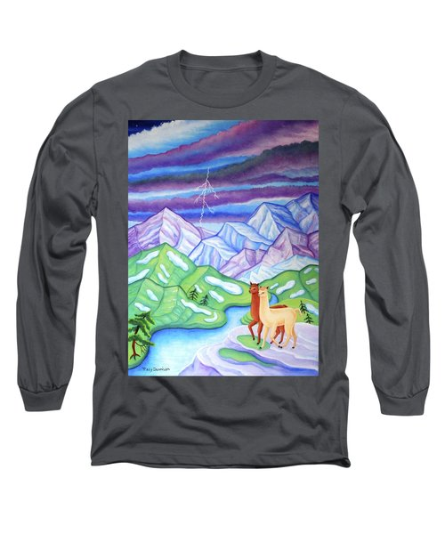 Stormy Weather Long Sleeve T-Shirt by Tracy Dennison
