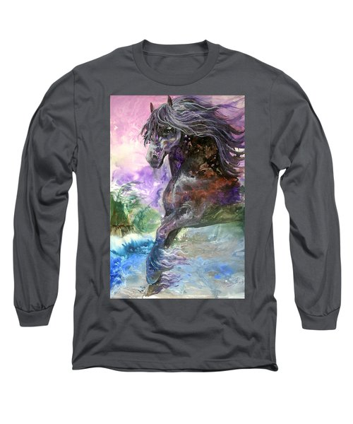 Stormy Wind Horse Long Sleeve T-Shirt