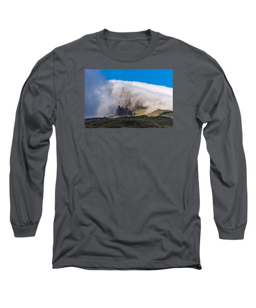 Long Sleeve T-Shirt featuring the photograph Storr In Cloud by Gary Eason