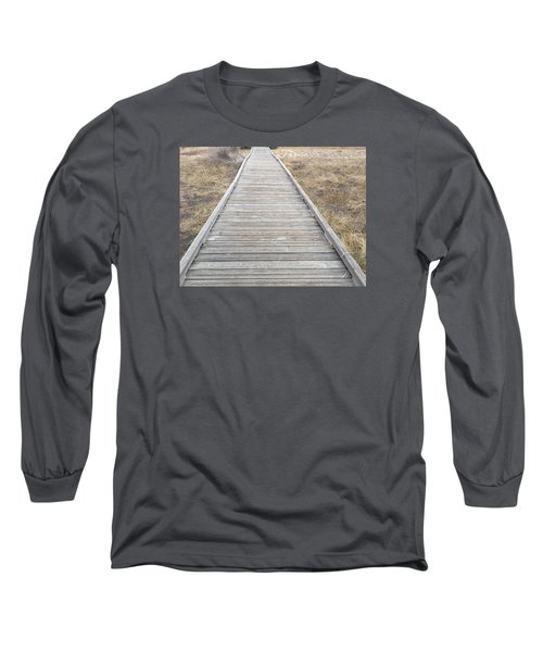 Straight And Narrow Long Sleeve T-Shirt by Russell Keating