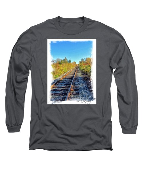Long Sleeve T-Shirt featuring the photograph Straight Track by Constantine Gregory