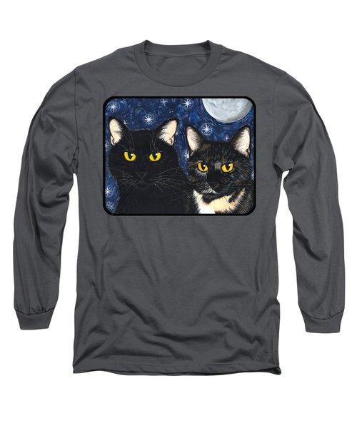 Strangeling's Felines - Black Cat Tortie Cat Long Sleeve T-Shirt