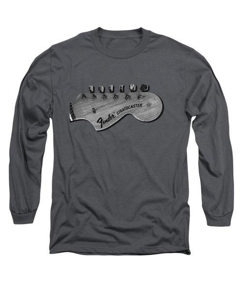 Stratocaster Head Long Sleeve T-Shirt by Mark Rogan