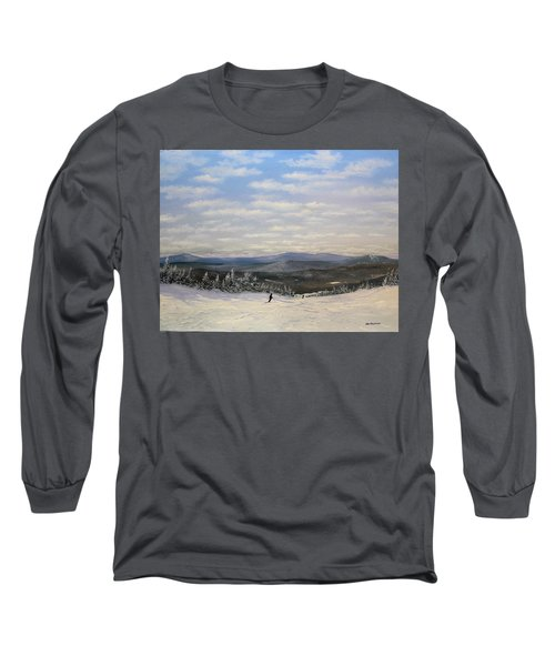 Stratton Skiing Long Sleeve T-Shirt by Ken Ahlering