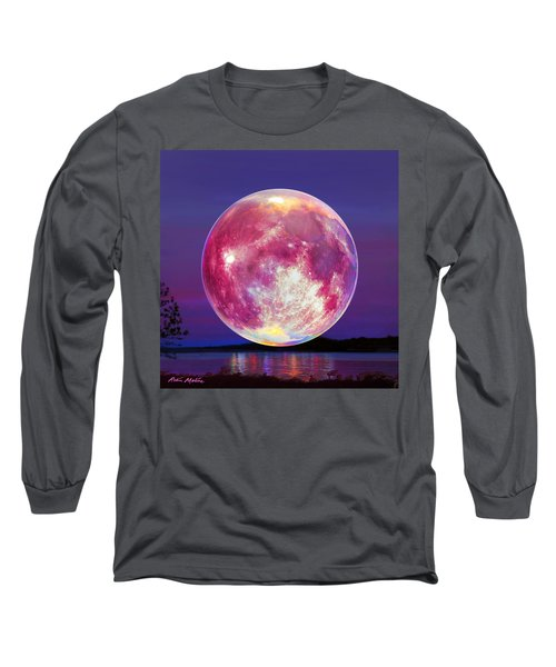 Strawberry Solstice Moon Long Sleeve T-Shirt