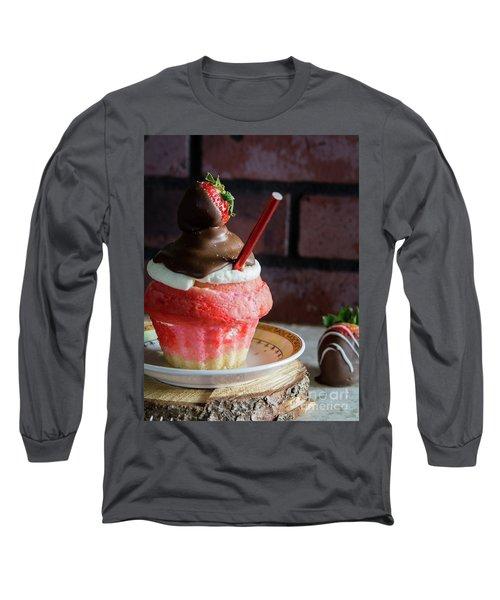 Long Sleeve T-Shirt featuring the photograph Strawberry Sundae  by Deborah Klubertanz