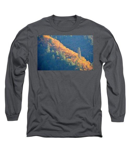 Long Sleeve T-Shirt featuring the photograph Streak Of Gold by AJ Schibig