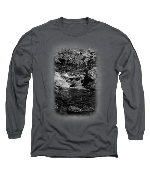 Stream In Autumn No.18 Long Sleeve T-Shirt by Mark Myhaver