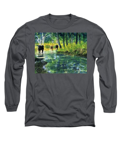 Streaming Cows Long Sleeve T-Shirt