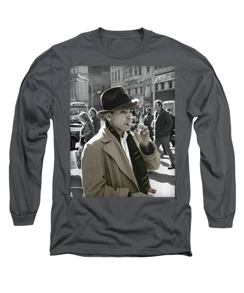 Long Sleeve T-Shirt featuring the photograph Street Smoking Man by Martin Konopacki