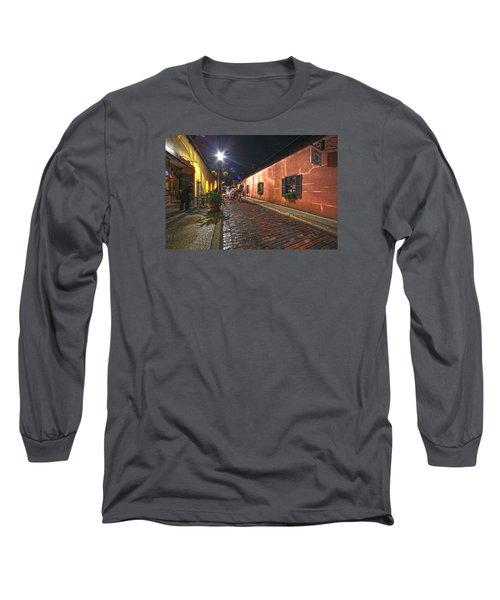 Streets Of St Augustine Long Sleeve T-Shirt by Robert Och