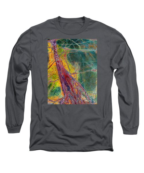 Long Sleeve T-Shirt featuring the painting Strength  by Haleh Mahbod
