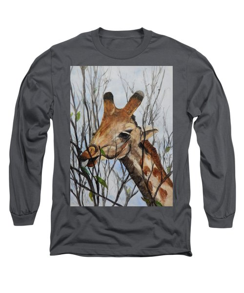 Long Sleeve T-Shirt featuring the painting Stretch by Betty-Anne McDonald
