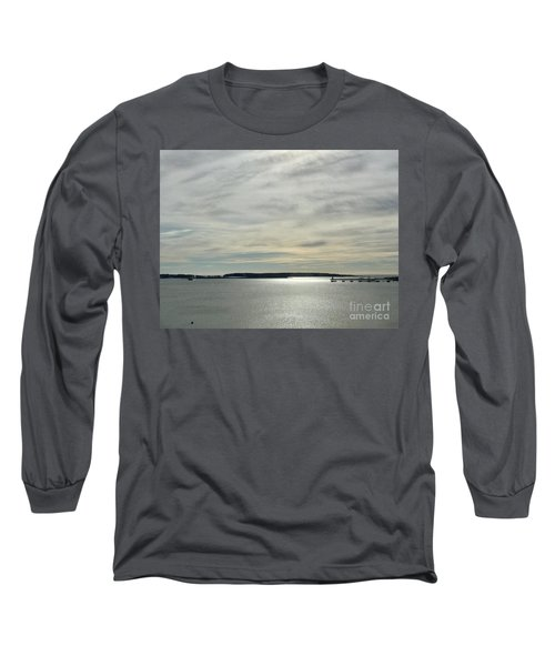 Striated Sky Over Casco Bay Long Sleeve T-Shirt