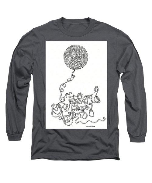 String Energy 2 Long Sleeve T-Shirt by Quwatha Valentine