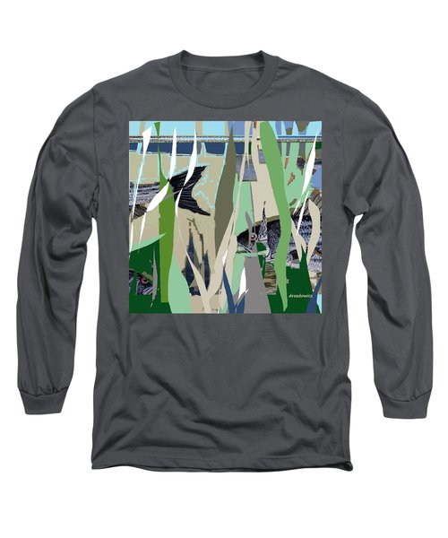 Long Sleeve T-Shirt featuring the mixed media Striper  by Andrew Drozdowicz