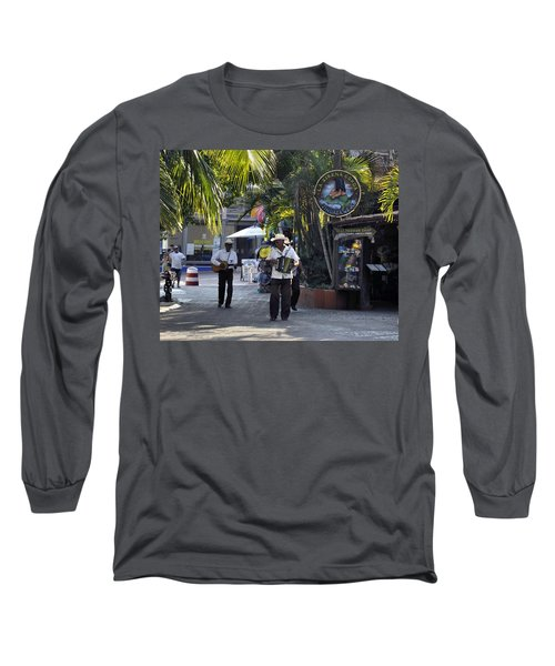 Long Sleeve T-Shirt featuring the photograph Strolling Musicians by Jim Walls PhotoArtist
