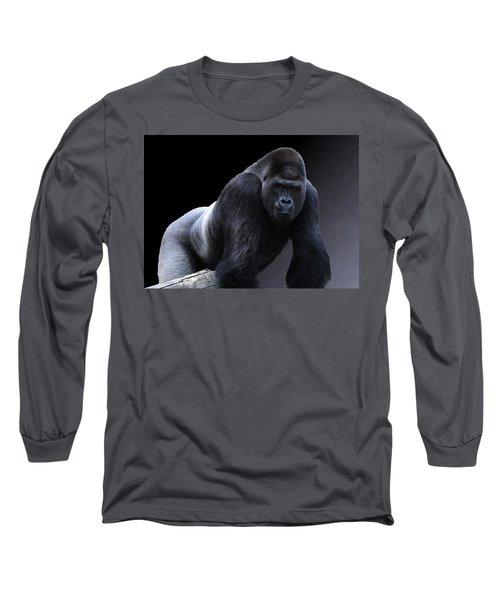 Strong Male Gorilla Long Sleeve T-Shirt