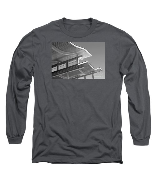 Structure Abstract 7 Long Sleeve T-Shirt by Cheryl Del Toro