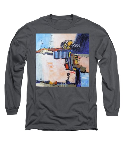 Long Sleeve T-Shirt featuring the painting Structured by Ron Stephens