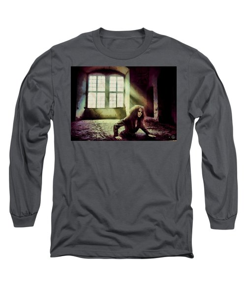 Long Sleeve T-Shirt featuring the digital art Stuck by Gun Legler