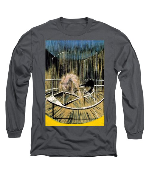 Study For Crouching Nude Long Sleeve T-Shirt