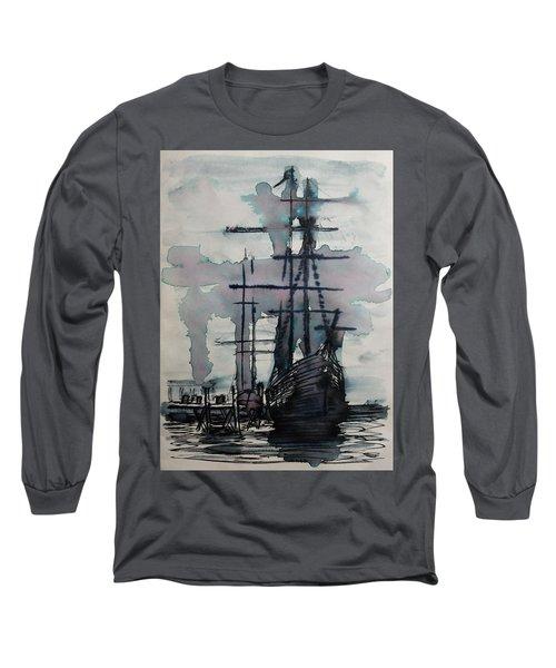 Study For Sailing Vessel Pandora Long Sleeve T-Shirt