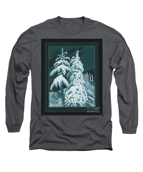 Long Sleeve T-Shirt featuring the painting Study For Winter Trees Of Life 299 by William Hart McNichols