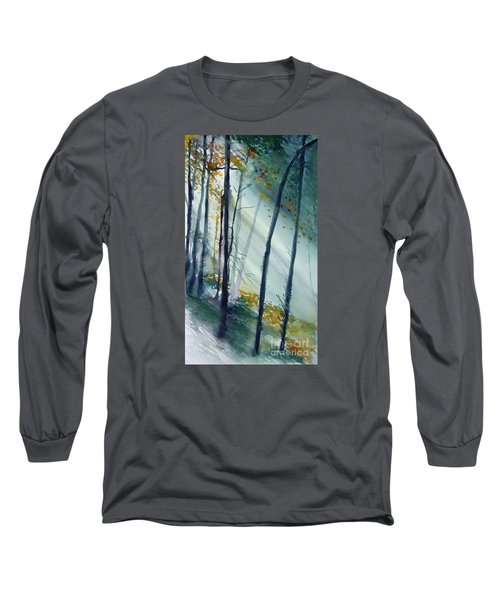Long Sleeve T-Shirt featuring the painting Study The Trees by Allison Ashton