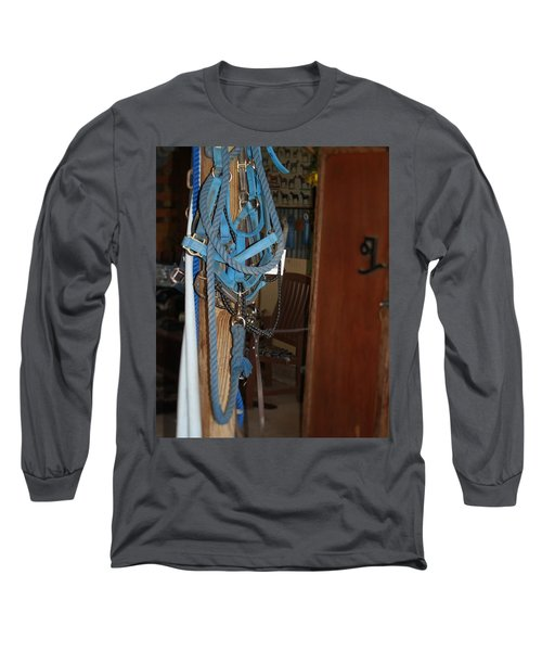 Long Sleeve T-Shirt featuring the painting Stuff In The Barn by Roena King