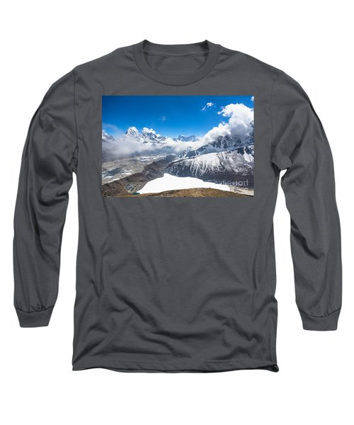 Stunning Panorama Over Gokyo In Nepal Long Sleeve T-Shirt