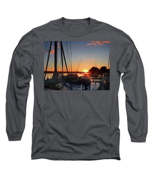 Long Sleeve T-Shirt featuring the photograph Sturgeon Bay Sunset by Rod Seel