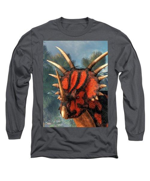 Styracosaurus Head Long Sleeve T-Shirt