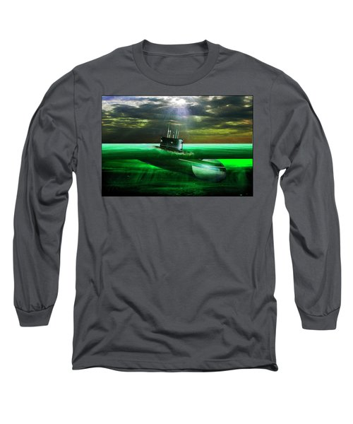 Submarine Long Sleeve T-Shirt by Michael Cleere