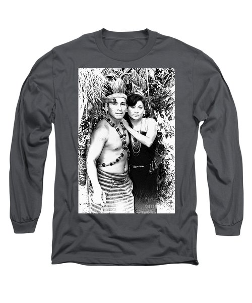 Long Sleeve T-Shirt featuring the photograph Sucua Shaman And Spouse by Al Bourassa