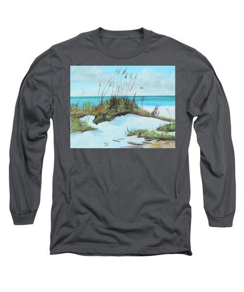 Sugar White Beach Long Sleeve T-Shirt by Lloyd Dobson