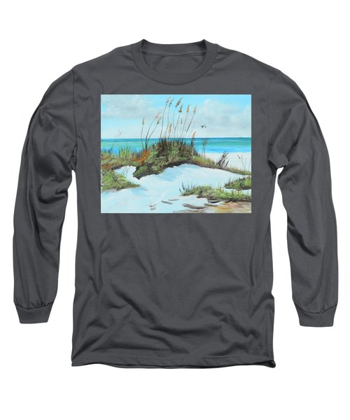 Sugar White Beach Long Sleeve T-Shirt