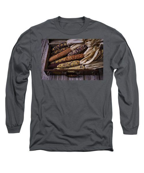 Suitcase Full Of Indian Corn Long Sleeve T-Shirt