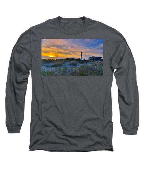 Sullivan's Island Lighthouse At Dusk - Sullivan's Island Sc Long Sleeve T-Shirt