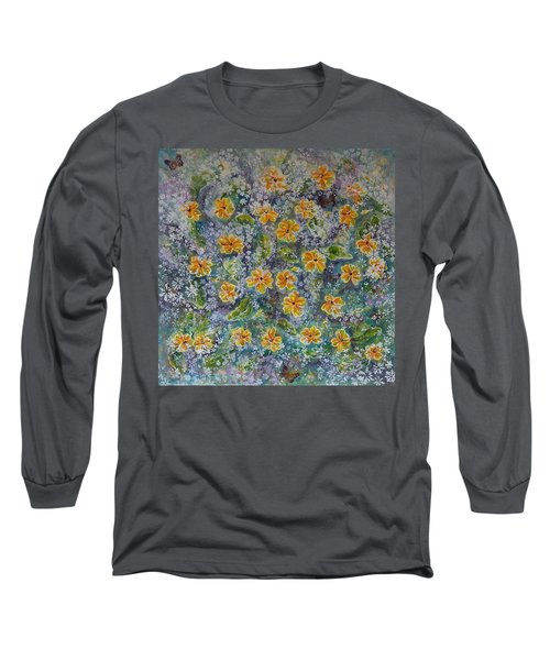 Spring Bouquet Long Sleeve T-Shirt by Theresa Marie Johnson