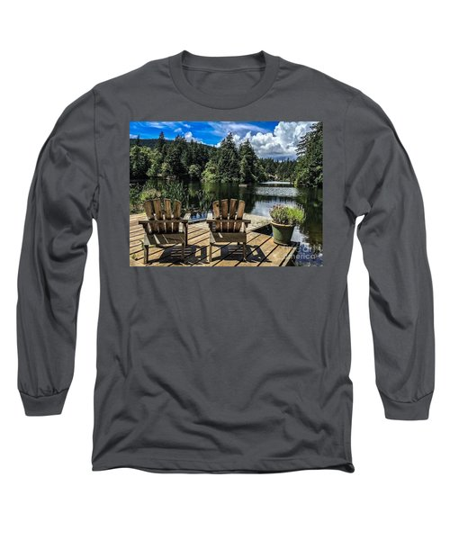 Summer By Eagle Lake Long Sleeve T-Shirt by William Wyckoff
