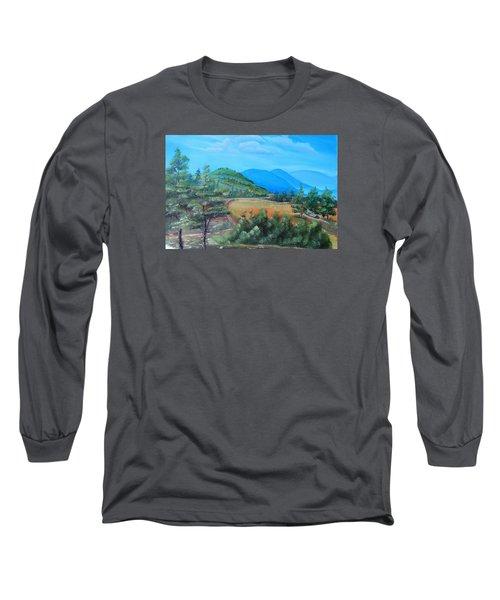 Summer Fields 2 Long Sleeve T-Shirt by Remegio Onia