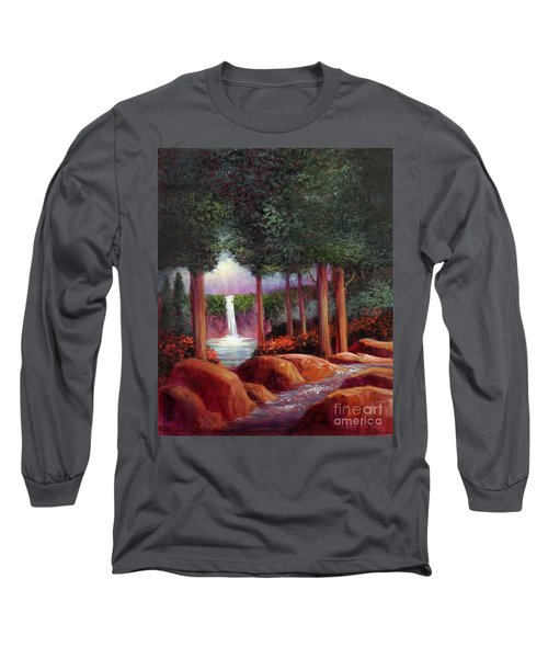 Long Sleeve T-Shirt featuring the painting Summer In The Garden Of Eden by Randol Burns